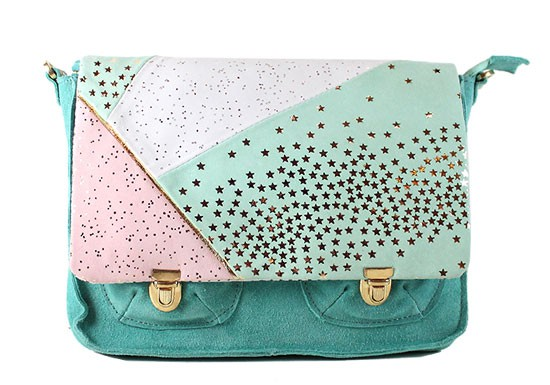 Cartable rose/mint