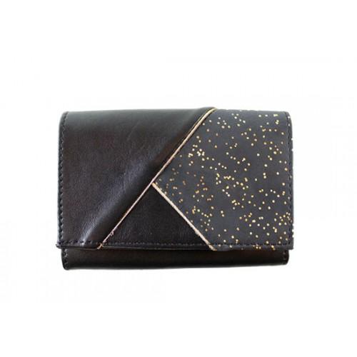 Portefeuille carré noir