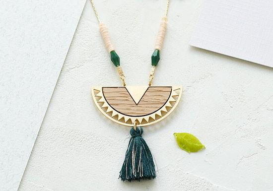 Collier Surinam vert