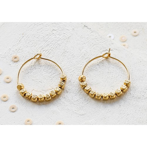 Boucles d'oreilles Gold Rush doré