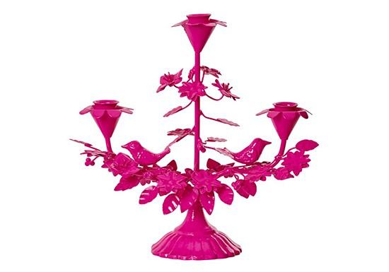 Chandelier neon pink