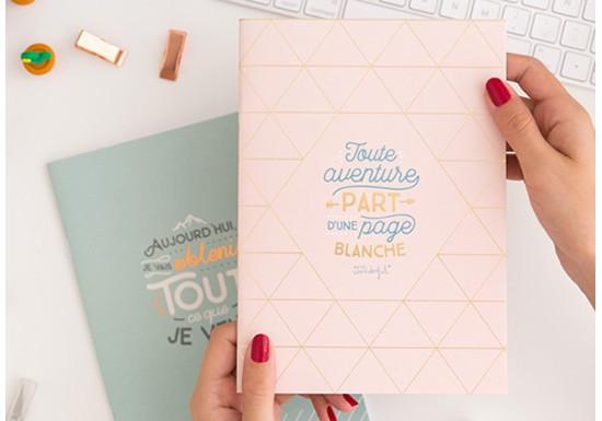Cahier Toute aventure part d'une page blanche