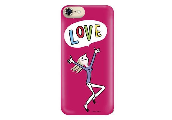 """Coque Soledad iPhone 7 """"LOVE"""""""