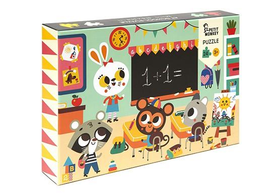 Puzzle 24 pièces A l'école