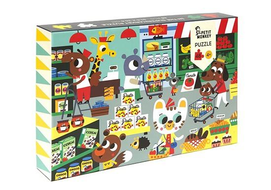 Puzzle 24 pièces Au supermarché