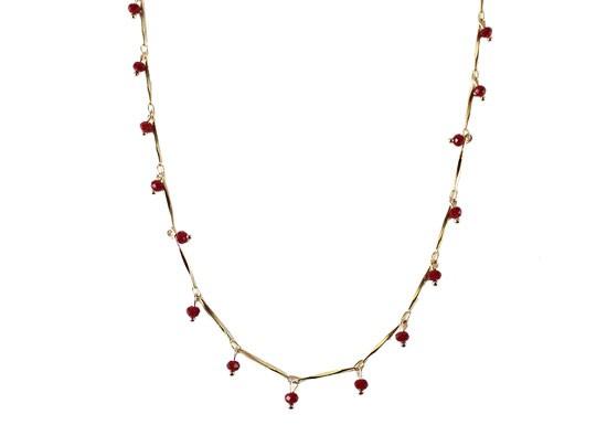 Collier Népal rouge