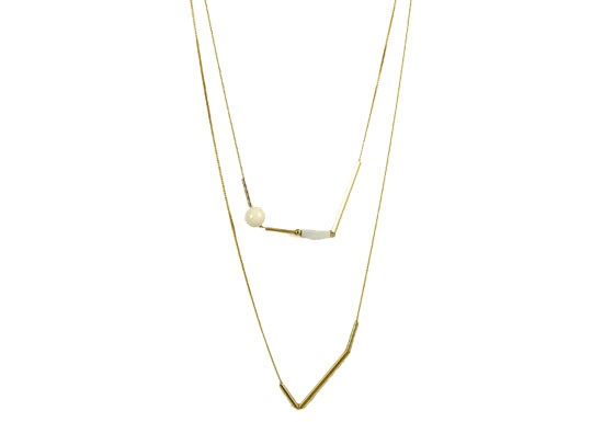 Collier Lily - Howlite
