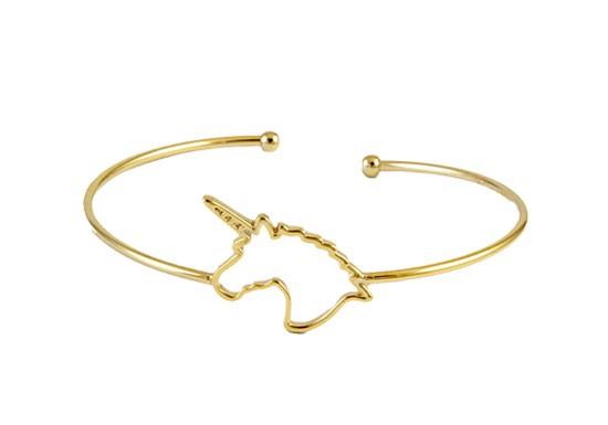 Bracelet jonc licorne doré