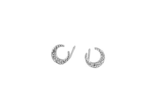 Boucles d'oreilles Luna argenté