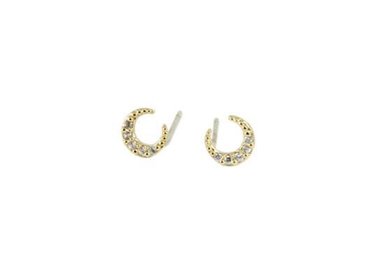 Boucles d'oreilles Luna doré