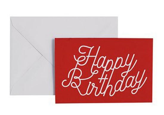 Carte de voeux Happy Birthday rouge