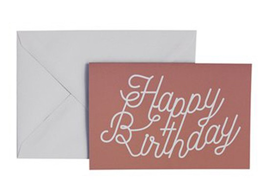 Carte de voeux Happy Birthday rose