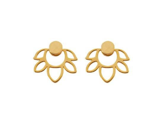 Boucles d'oreilles Lotus doré