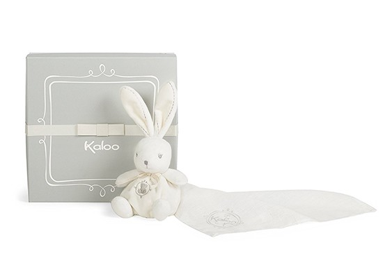 Coffret Kaloodoo - Doudou lange Lapin crème