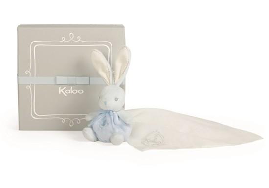 Coffret Kaloodoo - Doudou lange Lapin bleu