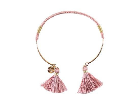 Bracelet Margaux rose clair