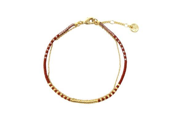 Bracelet Java bordeaux