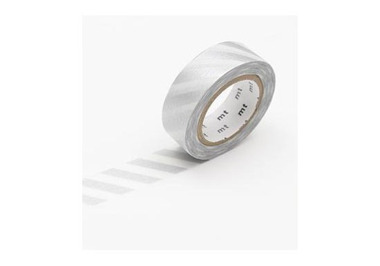 Masking Tape déco - Stripe silver