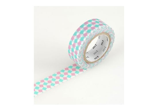 Masking Tape déco - Square pink