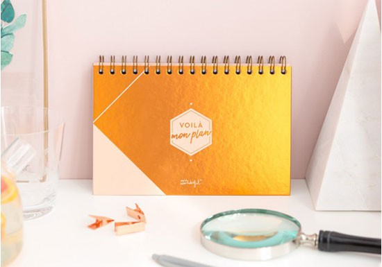 Organiseur hebdomadaire - Collection Copper
