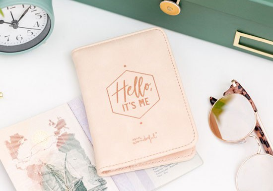 Protège passeport - Hello it's me - Collection Copper
