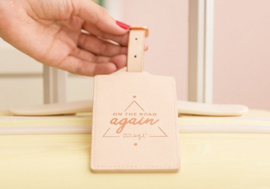Etiquette à bagage - On the road again - Collection Copper