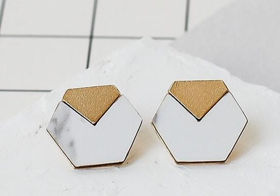 Boucles d'oreilles Vector marbre