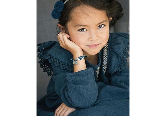 Coffret bracelet et barrette bleu