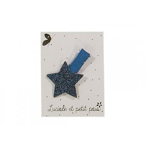 Barrette mini étoile bleu