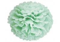 Fleur boule papier turquoise