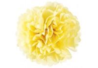Fleur boule papier jaune