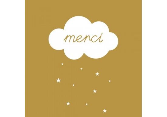 Carte postale Merci nuage