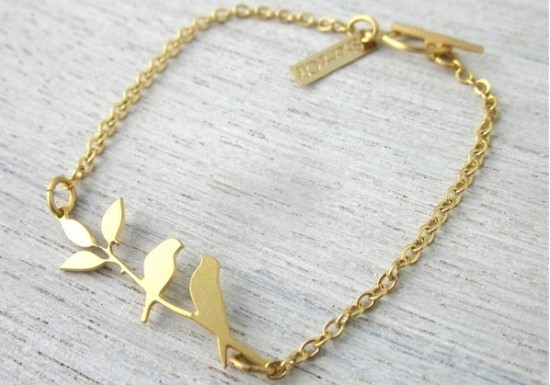 Bracelet Lovebirds doré
