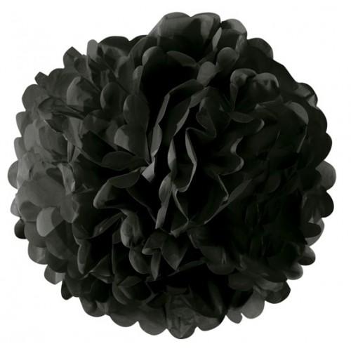 Fleur boule papier noir
