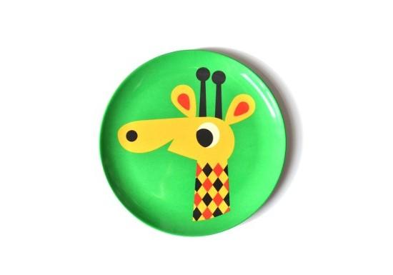 Assiette girafe