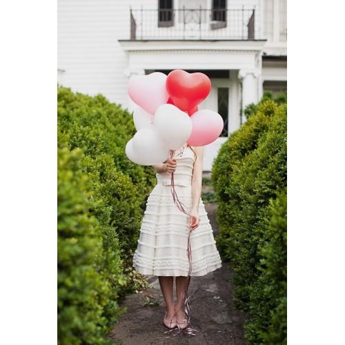 Ballons coeur rouge/rose/blanc