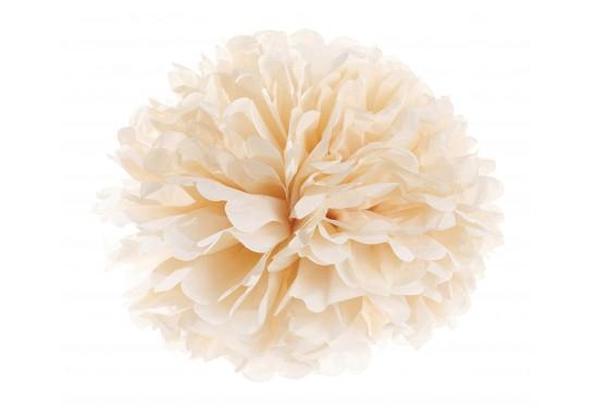 Fleur boule papier pêche