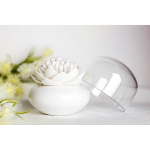 Lotus coton tige blanc