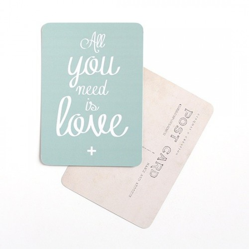Carte postale All you need is love / Mona - mint