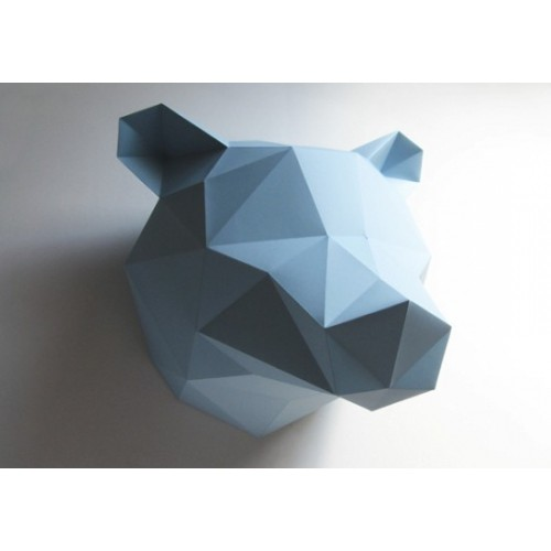Trophée ours bleu