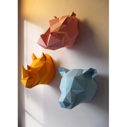 Trophée rhino jaune