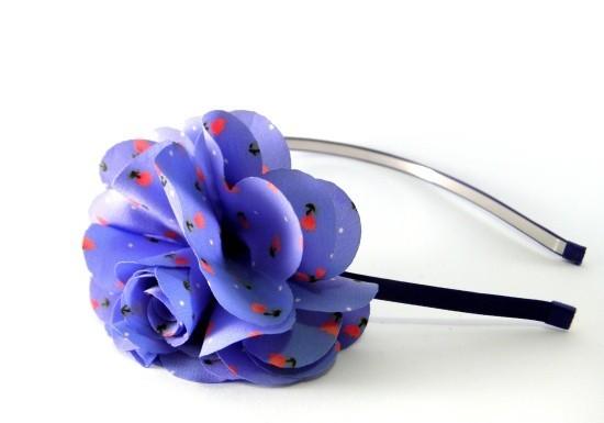 Serre-tête Morgane bleu