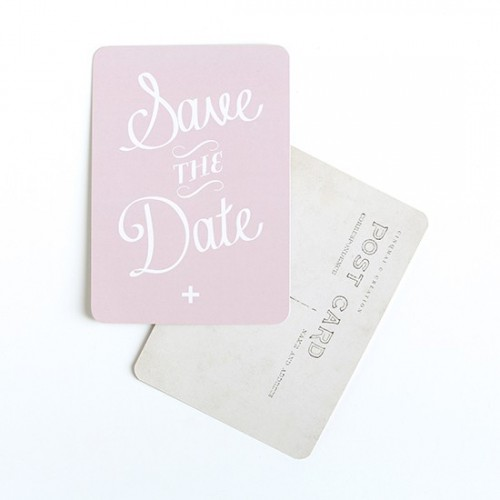 Carte postale Save the date - rose