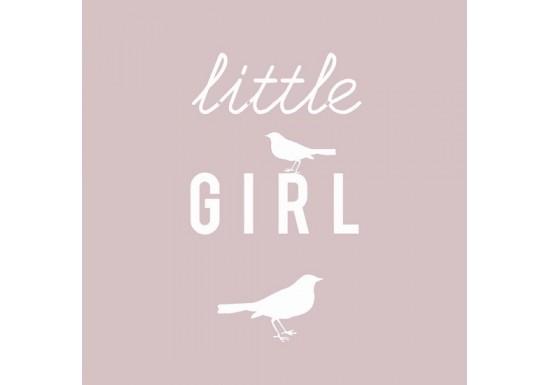 Carte postale Little girl - rose