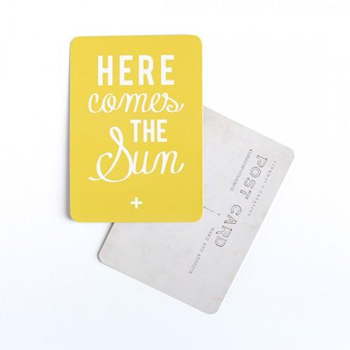 Carte postale Here comes the sun
