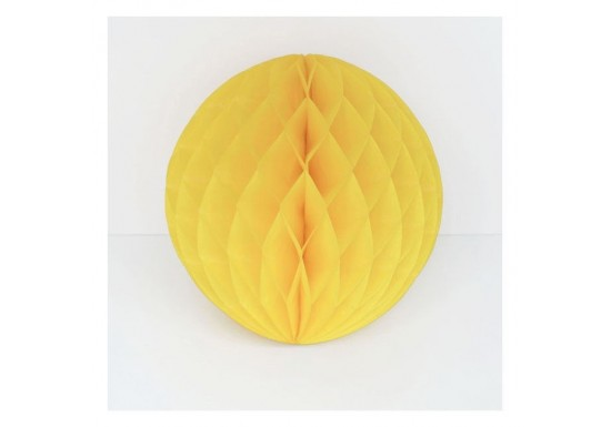 Boule en papier alvéolé jaune
