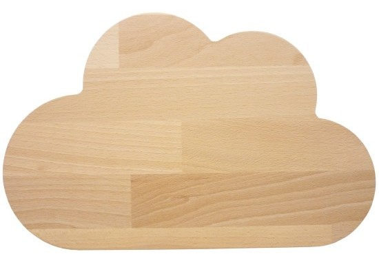 Planche nuage en bois