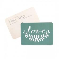 Carte postale Love Anna - green
