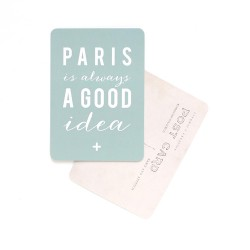 Carte postale Paris is always a good idea - vert menthe