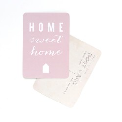 Carte postale Home sweet home - rose